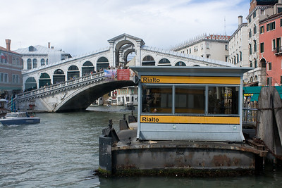 Rialto Bridge and the water taxi stop