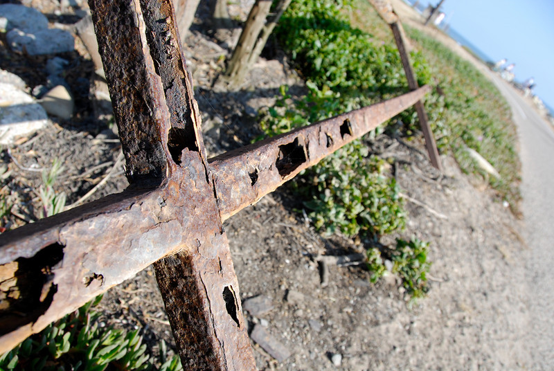 """<span id=""""title"""">Rusted Fence</span>"""