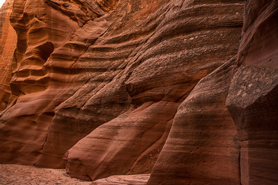 Sculpted sandstone in the slot.