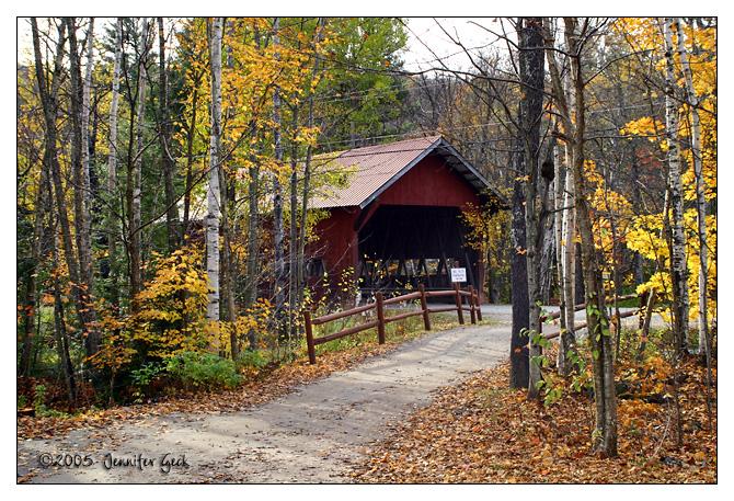 Covered bridge<br /> Stowe, VT