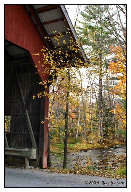 Covered bridge<br /> Stowe, VT