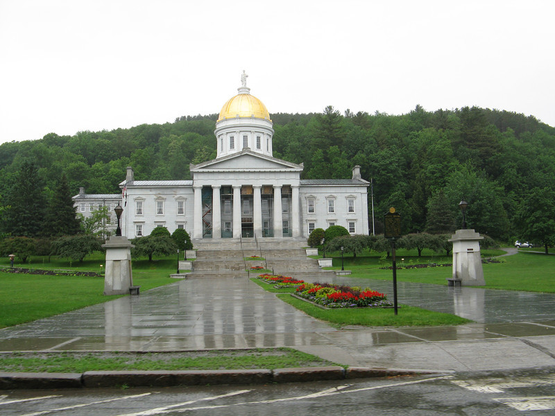 Capital building in Montpelier, Vermont. A very small town.