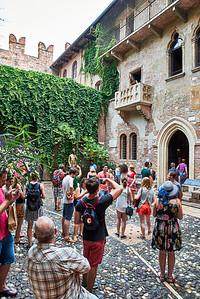 June  16-, 2017- Italy /Switzerland  Milan-Venice-Verona-Lake Como-Lugano trip  Fri 6/16  Juliet Balcony   Credit: Robert Altman