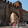 Ancient city wall of Verona.