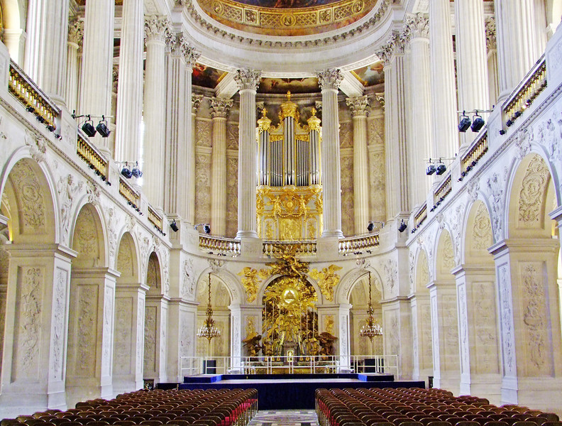 Interior of royal chapel.