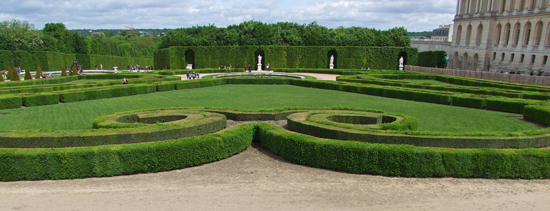 View onto the Gardens of Versailles