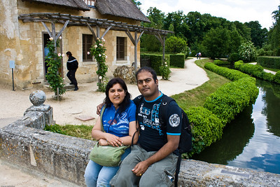Us at Marie Antoinette's village