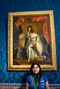 Deepu with Louis XIV
