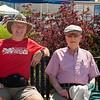 Dad & I waiting to cruise Lake Champlain