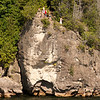 Cliffs and divers on lake champlain