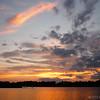 Sunset on the lake, near Essex Junction, VT