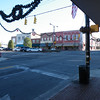A random view across Center Street from Walnut Street. The town already has its Christmas decorations up.