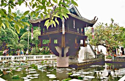 Chùa Một Cột One Pillar Pagoda Hà Nội Việt Nam - Aug 2002