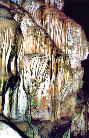 Rock folds Hang Thiên Cung Thiên Cung grotto Vịnh Hạ Long Hạ Long Bay Việt Nam - Aug 2002