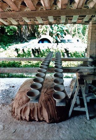 Pottery pots drying Bình Dương Việt Nam - Jul 2002