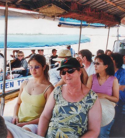 Lan and Gill on touring boat Miền tiền giang sông Cữu Long Mekong river delta Việt Nam - Jul 2002