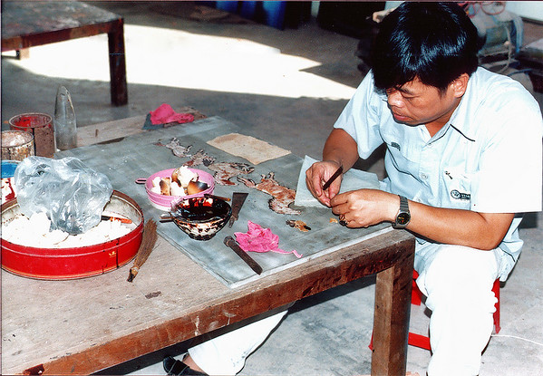 Craftsman, inlaid workshop Bình Dương Việt Nam - Jul 2002
