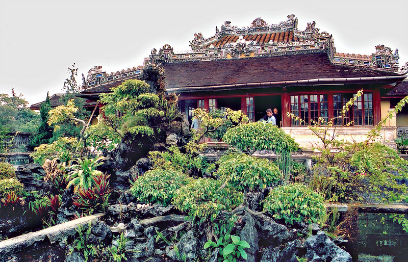 Thái Bình Lầu, Tú Câm Thành Royal Library, Forbidden Purple City Huế Việt Nam - Aug 2002
