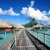 InterContinental Bora Bora Resort & Thalasso Spa, Motu Piti Aau, French Polynesia<br /> <br /> Number of Bungalows: 80<br /> <br /> What's Unique: This eco-friendly hotel pumps ice-cold seawater from depths of 3,000 feet to power the air-conditioning in overwater bungalows and throughout the resort. InterContinental Bora Bora Resort & Thalasso Spa is also home to the South Pacific's first thalassotherapy center and uses the deep-sea waters in spa treatments. In the overwater bungalows, very little separates you from spectacular mountain and lagoon views. There's a glass wall in the bedroom, and the living room features a glass coffee table that opens up so you can toss pieces of bread to the colorful fish below. Even the bathtub offers a picture-perfect view of the water.<br /> <br /> Over-the-Top Services: During a treatment at the Deep Ocean Spa, you can watch marine life pass below glass floor panels. Resort staff will deliver breakfast by a traditional decorated outrigger canoe.<br /> <br /> Rates: From $530 per night. Check Tahiti Tourisme for air-and-hotel packages at the InterContinental and other resorts in Bora Bora.