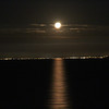 Day 2 - moonrise over Port Phillip Bay en route to Tasmania