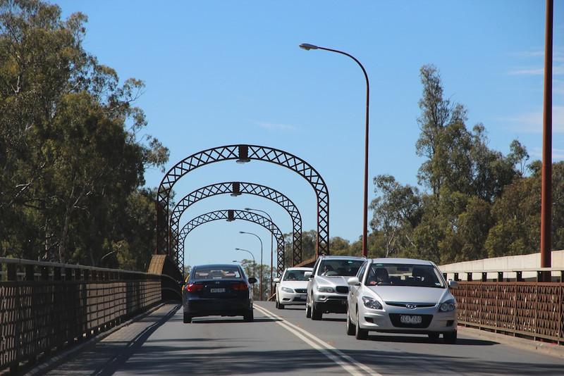 Day 22 - Bridge across Murray River between Echuca and Moama