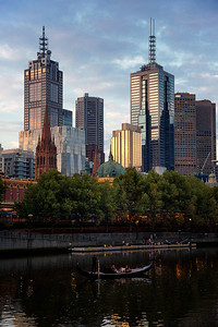 Melbourne and Yarrow River