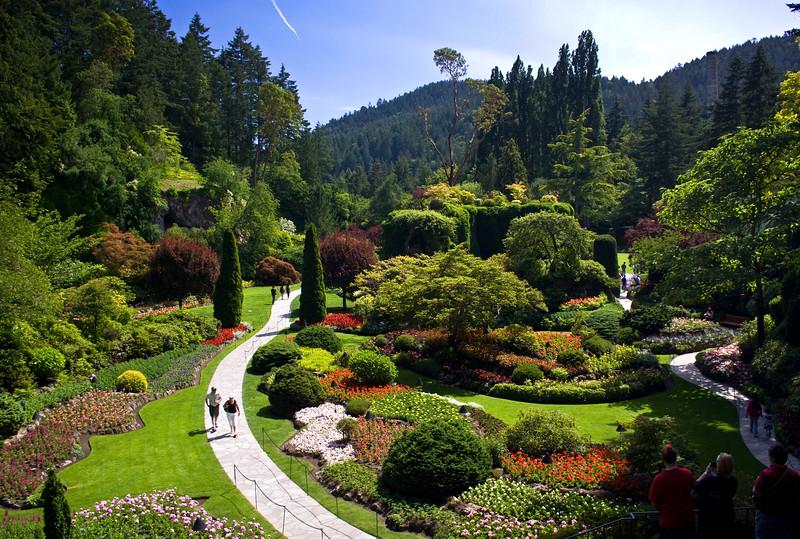 Butchart Gardens Sunken Garden, built in a mining pit