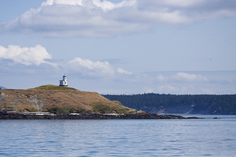 Cattle Point Lighthouse on the tip of San Juan Island