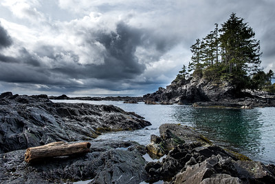 Botany Bay, British Columbia.  Looking west from the west coast of Vancouver Island.  A nice drive from Victoria, BC and a short hike brings you to some great views and beautiful beaches.
