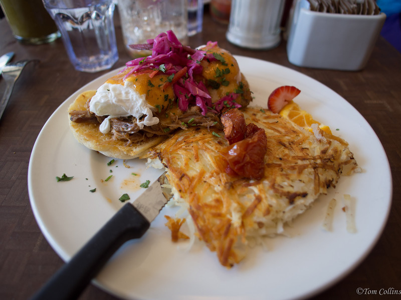 """Breakfast at The Jam Cafe' in Victoria, BC.  Certainly one of the best breakfast places I've ever eaten at and the best """"Ceaser"""" (Bloody Mary BC style) I have ever had period."""