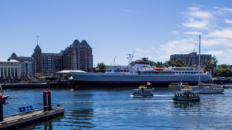 """The Ferry """"Coho"""".  Sails between Port Angeles, Washington and Victoria, BC."""