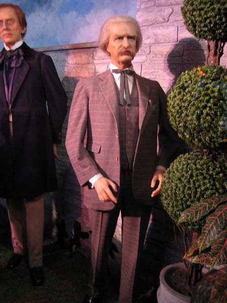 Royal London Wax Museum<br /> Mark Twain (and Hans Christian Anderson)