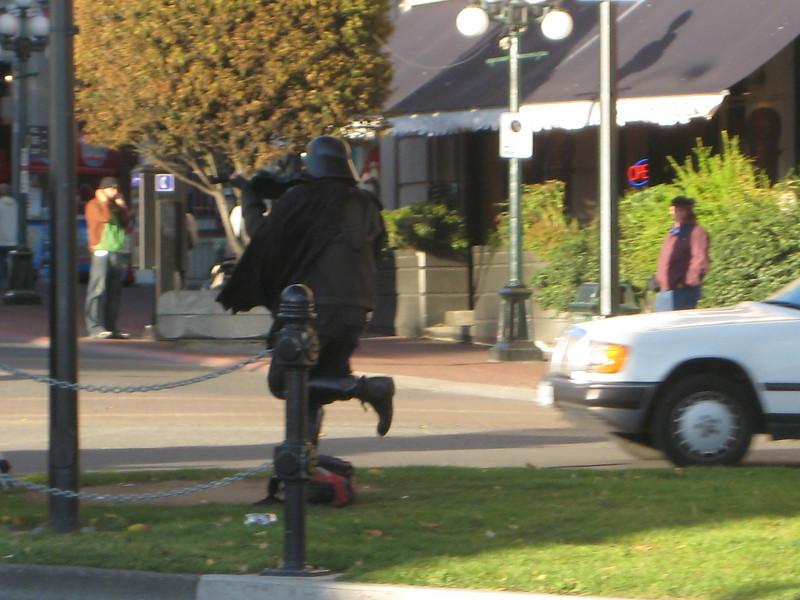 Darth Violinist on a corner in Victoria.