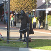 Darth Violinist on a corner in Victoria.