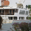 This is an old tanker ship that's been retrofitted into a yacht!
