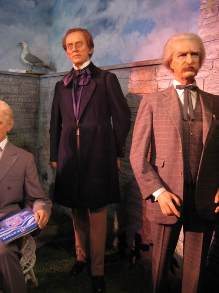 Royal London Wax Museum<br /> Hans Christian Anderson & Mark Twain