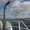 View from my seat on the ferry. Coming up on Victoria.