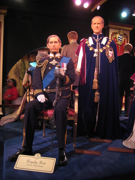 Royal London Wax Museum<br /> Charles, Prince of Wales and H.R.H. Prince Philip.