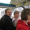 Robert and I and Kathy on the monorail to catch the Seattle Duck tour.