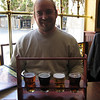 Robert with the taster rack