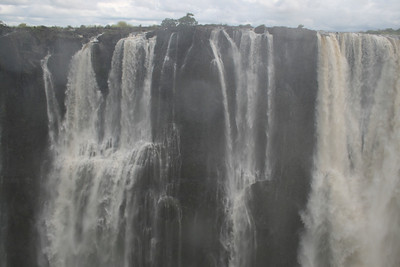 This is about the mid-point of our walk across the falls.  The falls is 1.5 miles long and shared by Zambia and Zimbabwe.  We only walked along the Zambian side.