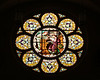 The rose window facing west. St. Fidelis church and cemetery, Victoria, KS