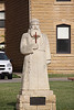 "St. Fidelis, known as ""the poor man's lawyer""  he joined the Capuchin order leaving his law career behind.  He was canonized in 1746. St. Fidelis church and cemetery, Victoria, KS"