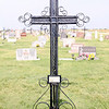 Iron cross with curly cues St. Fidelis church and cemetery, Victoria, KS St. Fidelis Cemetery, Victoria, KS