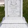 Wilhelmina Rusch white bronze (zinc) marker. St. Fidelis Cemetery, Victoria, KS