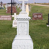 Wilhelmina Rusch full marker.  St. Fidelis Cemetery, Victoria, KS