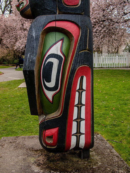 The most recent pole in Thunderbird Park was raised in 1999 to honour the families of the two  carvers, Henderson and Whonnock, and is dedicated to the Coast Salish people
