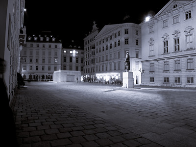 Judenplatz at the center of Vienna's Jewish quarter.