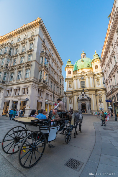 A horse carriage ride to St. Peter Church