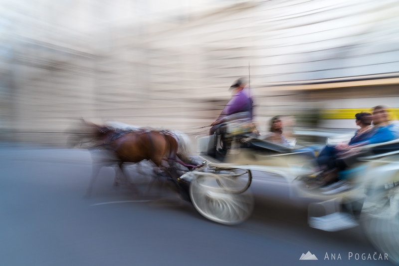 Just a fun panning shot of a Fiaker (horse carriage)